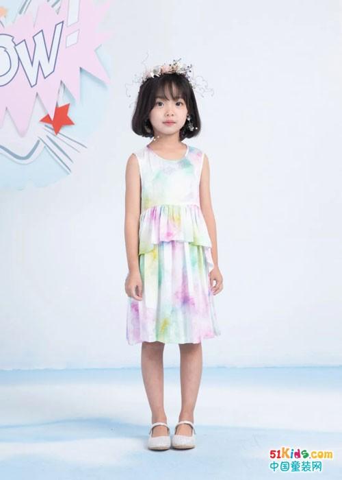 夏日限定,梦幻配色 ULLU童装扎染系列上线