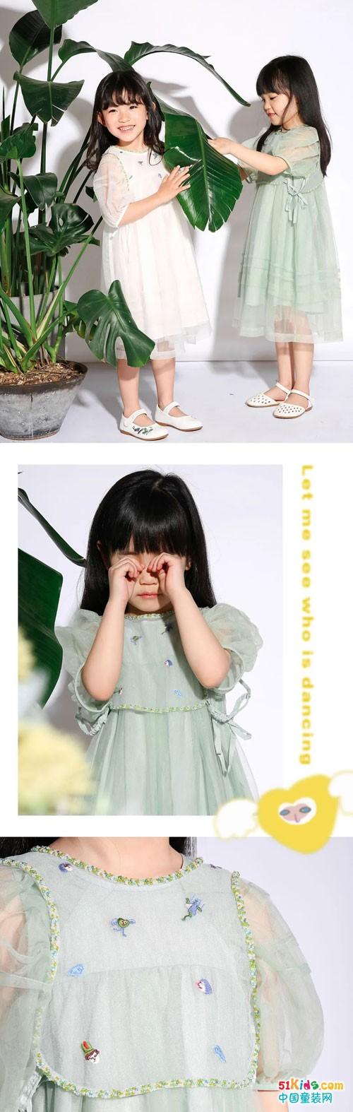 马拉丁童装 爱跳舞的小女孩和她最爱的纱裙