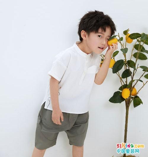 森虎儿童装 简单干净的自然美学穿搭法