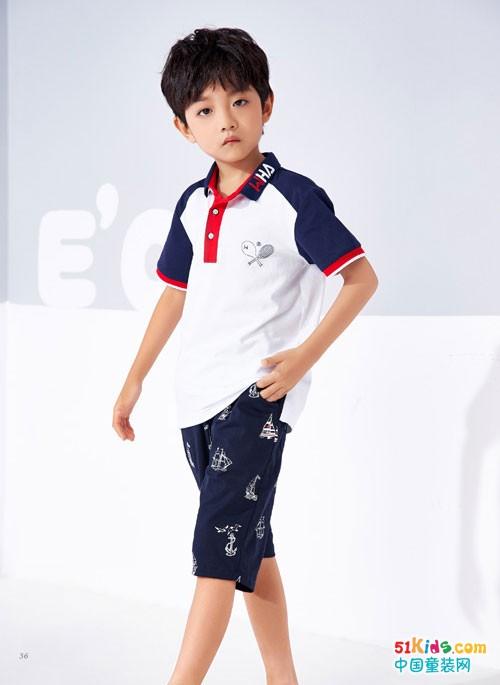 看海威迩教你学穿搭,男童夏日Polo衫怎样穿帅气