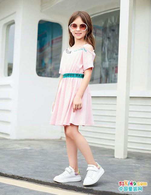 杰米熊女童连衣裙搭配,就是如此可爱清新范儿!