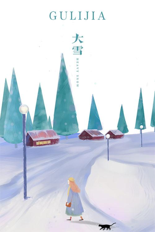 遇冬见暖,古力家和大雪一起走来的冬季