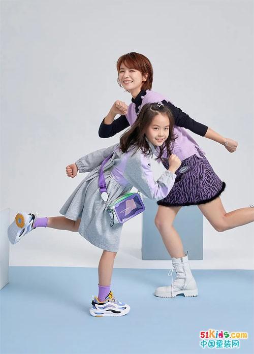 演员曹曦文携女儿拍摄ABC KIDS新品大片,时尚功力吸睛无数