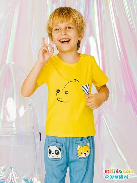 T恤衫怎么穿更有潮流感?适合男孩穿的休闲衫和马裤有哪些款?