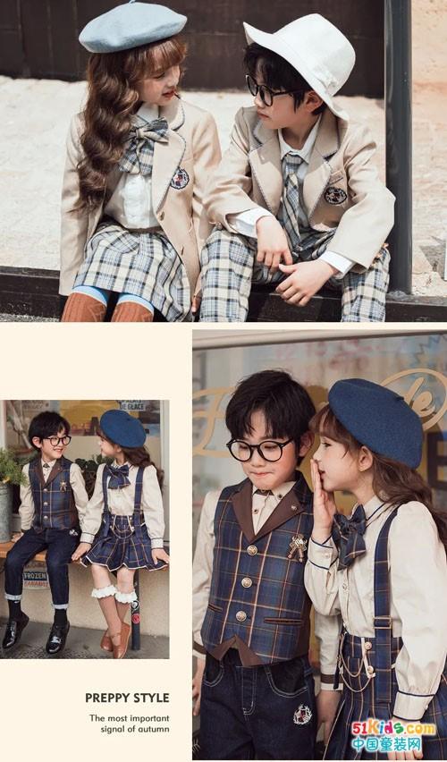 秋装当道,两个小朋友开学时装秀即将上演
