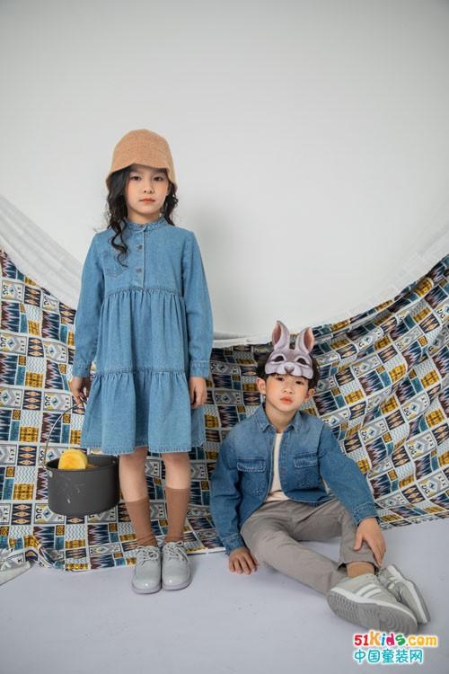 牛仔裙适合什么性格的女孩穿?有什么田园风格的童装推荐?