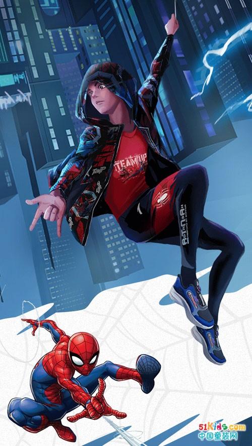 全方位防护,跑不设限丨安踏儿童蜘蛛侠新式战衣来袭