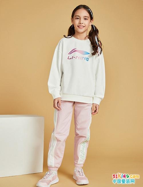 女孩运动装有哪些款式?要运动就穿李宁童装