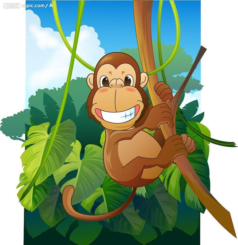 可爱猴子公主简笔画