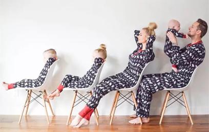 时尚+逗趣,不一样的风格玩转潮范亲子装!