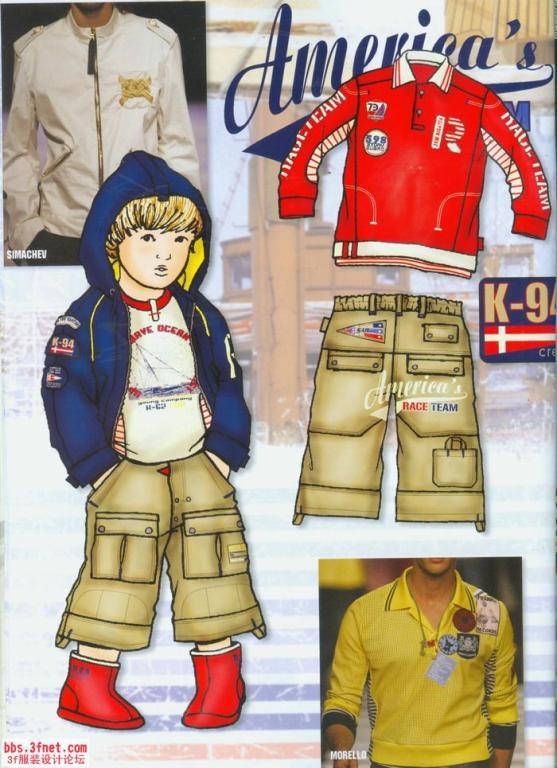 兒童服裝設計手稿圖; 童裝款式設計效果圖圖片下載