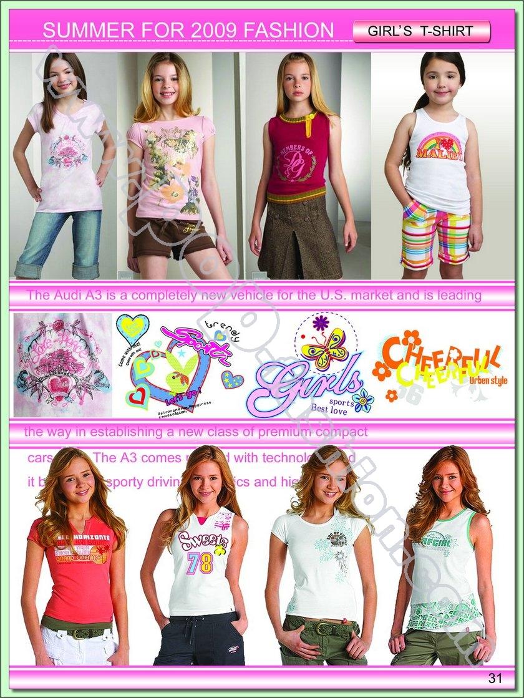 tot 2009春夏法国女童装t恤设计手稿(二)