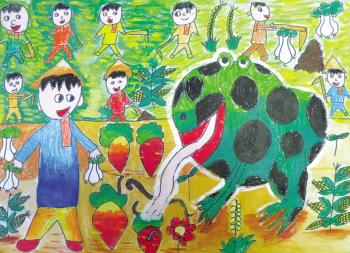 """""""红黄蓝""""多彩世界儿童画大赛作品选登图片"""